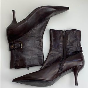 Newarker Nine West leather brown boots